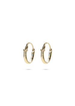 18ct gold plated silver hoop earrings