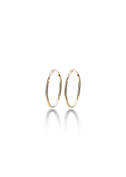 18ct gold plated silver hoop earrings, 23 mm