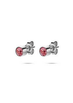 K3 collection, earrings, small pink stone