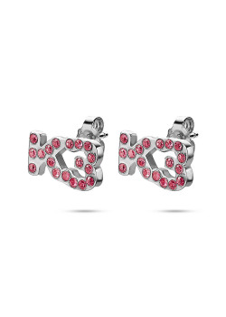 K3 collection, earrings, K3 in pink stones