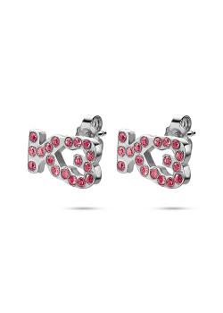 K3 collectie, oorbellen, K3 in roze steentjes