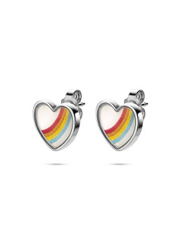 K3 collection, earring, rainbow heart