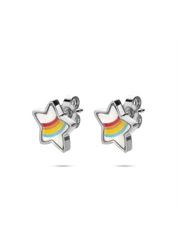 K3 collection, earrings, rainbow star