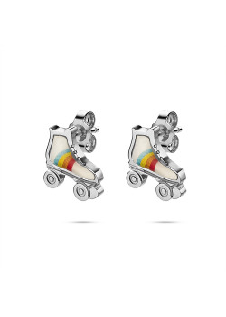 K3 collection, earrings, roller skates in rainbow