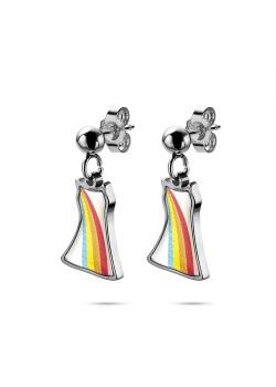 K3 collectie, oorbellen, hangend regenboog kleedje