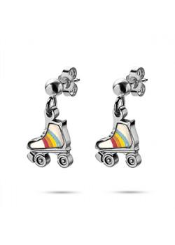 K3 collectie, oorbellen, regenboog rolschaats