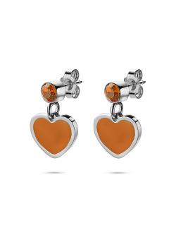 K3 collectie ,oorbellen, oranje hartje en steentje