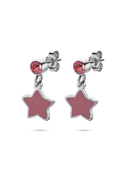 K3 collection, earrings, pink star and stone