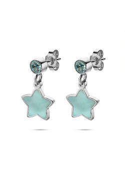 K3 collection, earrings, blue star and stone
