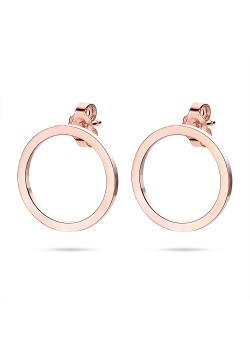 Boucles d'oreilles en acier poli rosé, cercle rosé