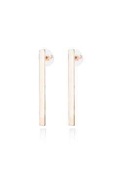 high fashion oorbellen, rechthoekig motief, rosé