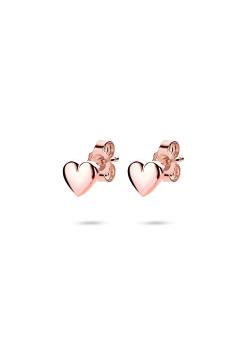 oorbellen in rosé zilver, hartje