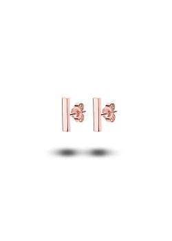 oorbellen in rosé edelstaal, staafje
