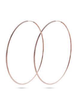 creolen in rosé zilver, gebeiteld