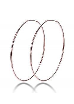 creolen in rosé zilver, 52 mm