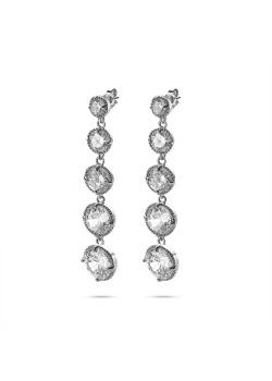 High fashion Oorbellen, 5 kristallen, verschillende maten