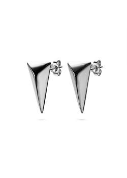 Oorbellen in edelstaal, driehoek