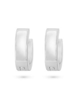 Stainless steel earrings, hoop earrings with pearl