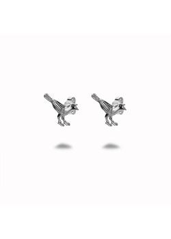 Oorbellen in zilver, vogel