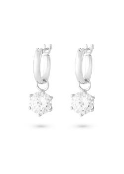 Silver earrings, oorring met zirkonia