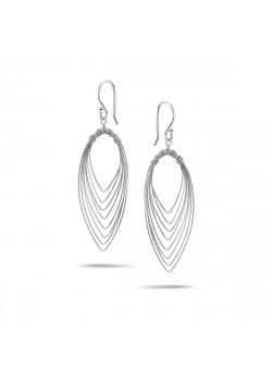 Boucles d'oreilles en argent, motifs  élliptiques imbriqués
