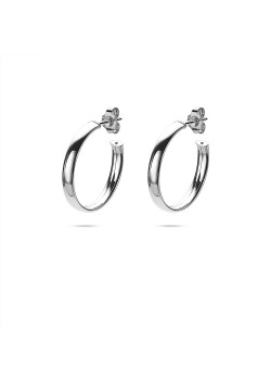 Silver earrings, hoop earring 23 mm