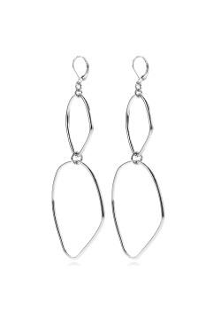 high fashion oorbellen, open geometrische motieven