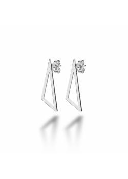 Boucles d'oreilles en acier, triangle ajouré 27mm