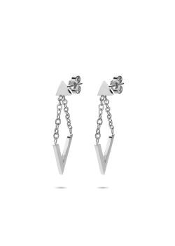 Stainless steel earrings, geometric