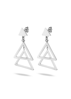 Stainless steel earrings, triangles