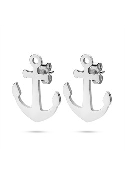 Stainless steel earrings, anchor