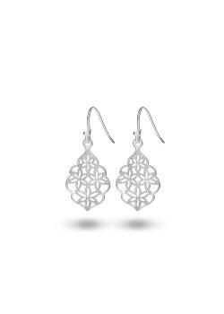 Oorbellen in zilver met een bloemenmotief 2 cm