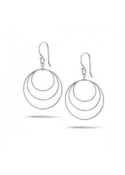 Oorbellen in zilver, 3  cirkels