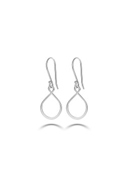 Silver earrings, abstract
