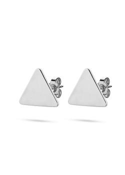 oorbellen in zilver, driehoek