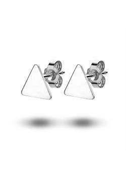 oorbellen in zilver, driehoek van 9 mm