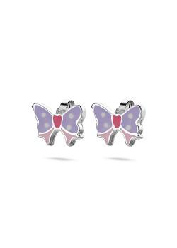 oorbellen in zilver, vlinder