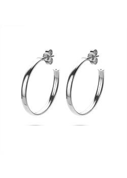 Silver earrings, hoop earring 33 mm