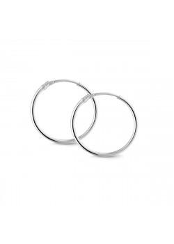 silver hoop earrings, 23 mm
