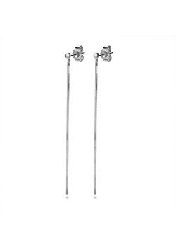 oorbellen in zilver, ketting van 60 mm