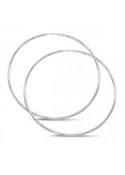creolen in zilver, 55 mm