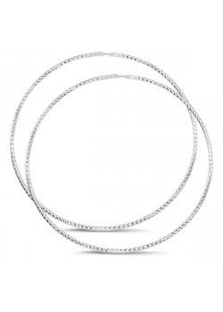 Creolen in zilver, 65 mm