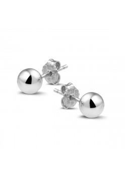oorbellen in zilver, bolletje van 6 mm