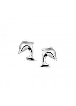 Oorbellen in zilver, dolfijntje
