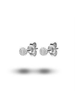 oorbellen in zilver, rondje van 4 mm