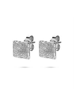 Boucles d'oreilles en argent, carré