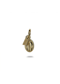 18ct gold plated pendant, maria oval