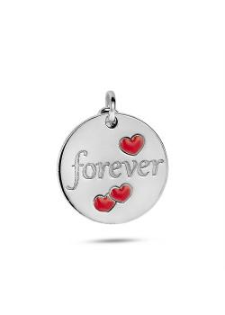 Hanger in zilver, ronde forever
