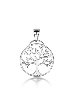 silver pendant, tree of life