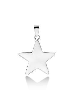 hanger in zilver, ster van 20 mm